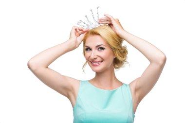 Woman with princess crown