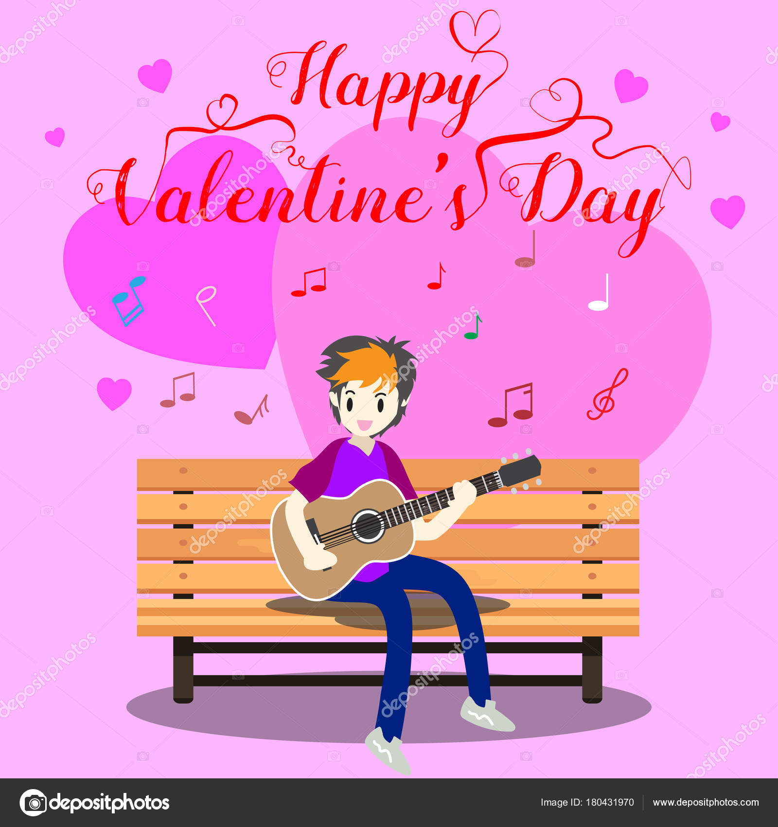 Remarkable Boy Playing Guitar Chair Valentine Day Happy Valentine Day Ocoug Best Dining Table And Chair Ideas Images Ocougorg