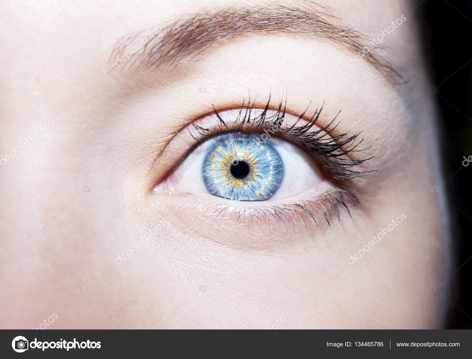 02dbdc52e Žena krásná detailní pohled modrých očí — Stock Fotografie © Viculia ...