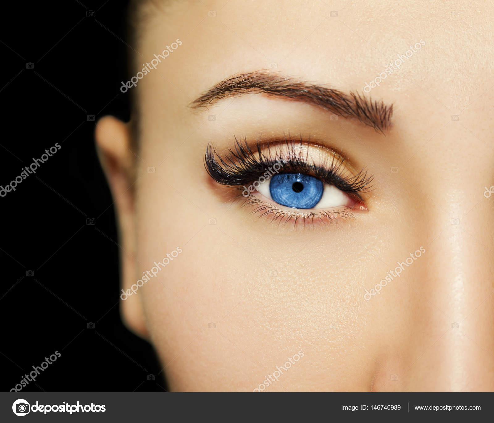 Blaue Augen Make Up Schöne Augen Make Up Detail Stockfoto