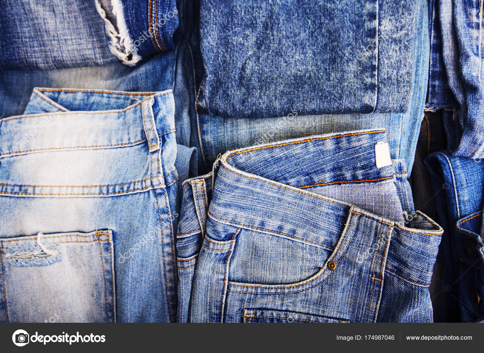 Denim Jeans Background With Seam Of Jeans Fashion Design Stock Photo C Viculia 174987046