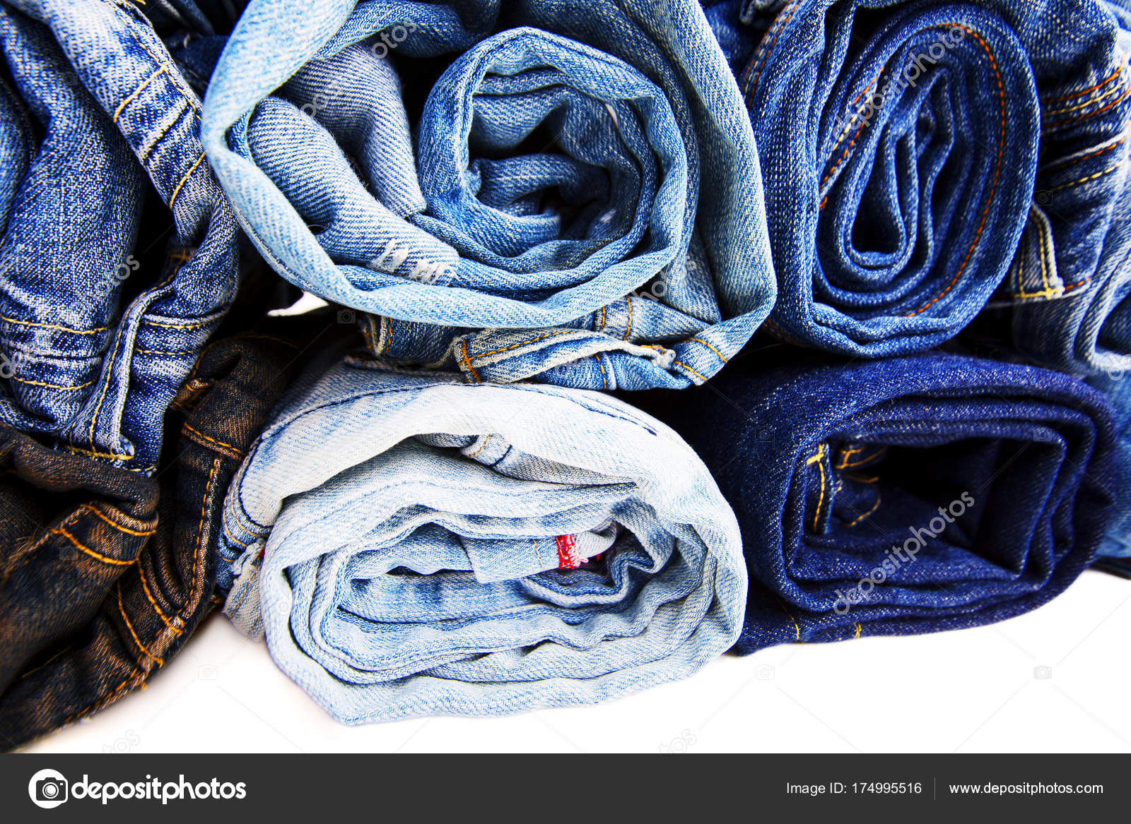 710b8984e51 Close up rolled of blue jeans pants