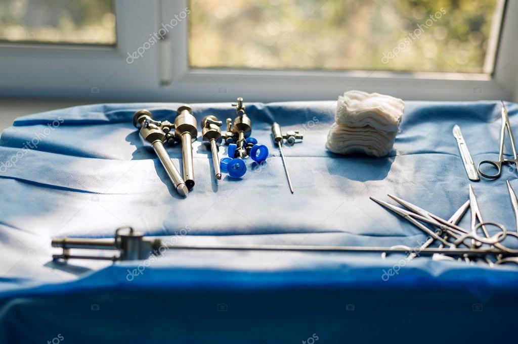 Инструменты для лапароскопии в гинекологии — Стоковое фото ...