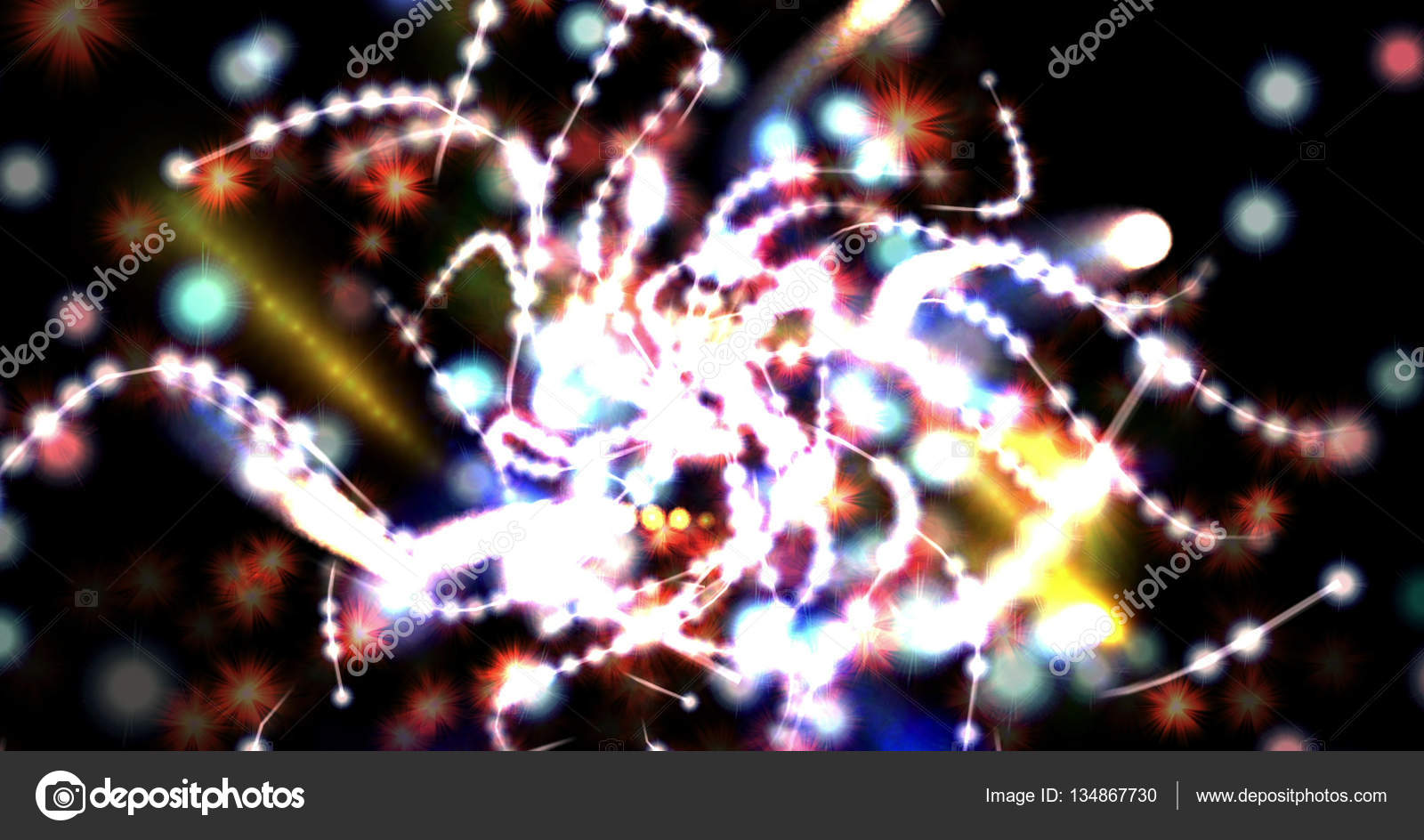 Immagine generata al computer di mistici luci e forme — Foto Stock ...