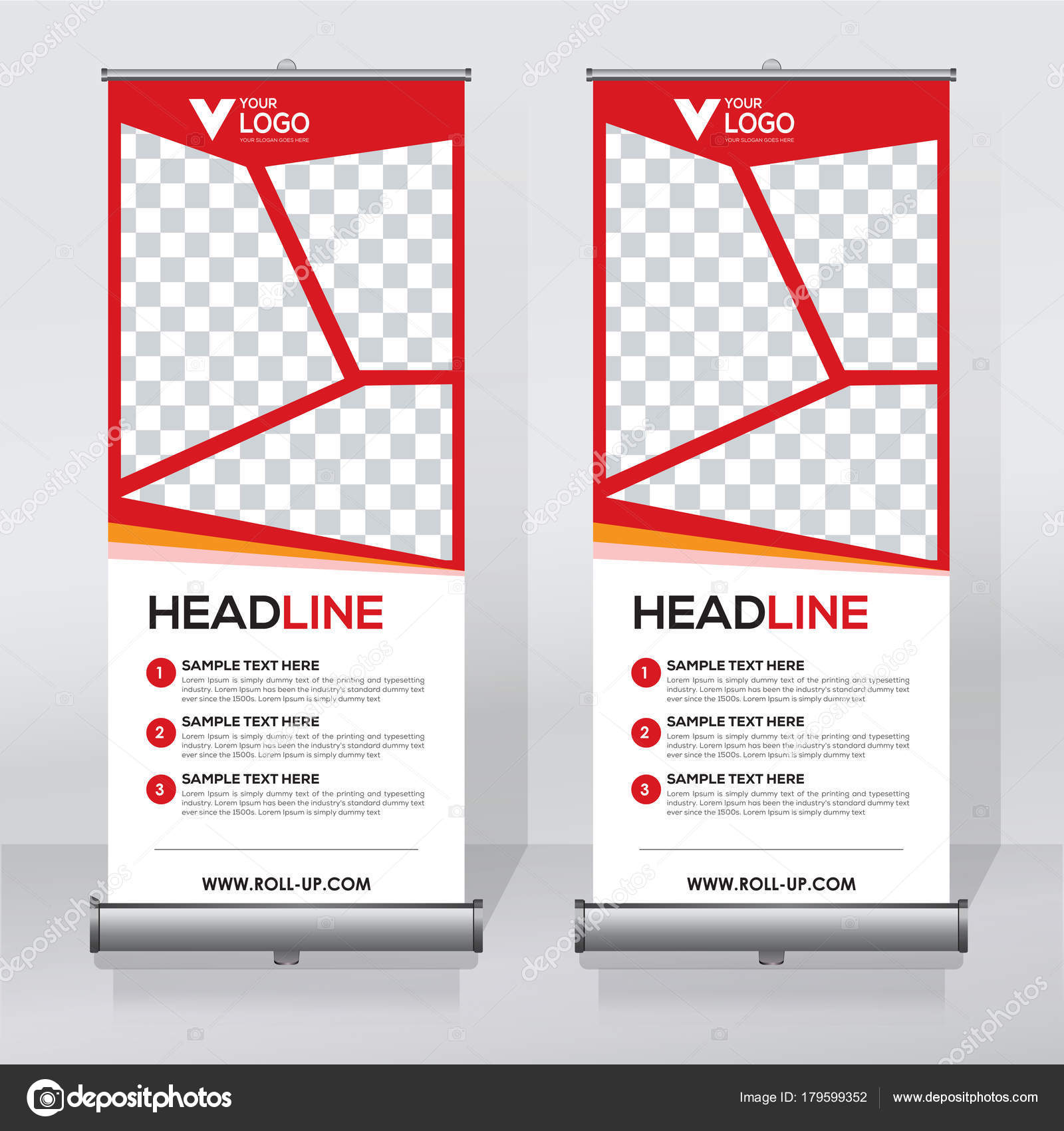 roll banner design template abstract background pull design modern banner stock vector