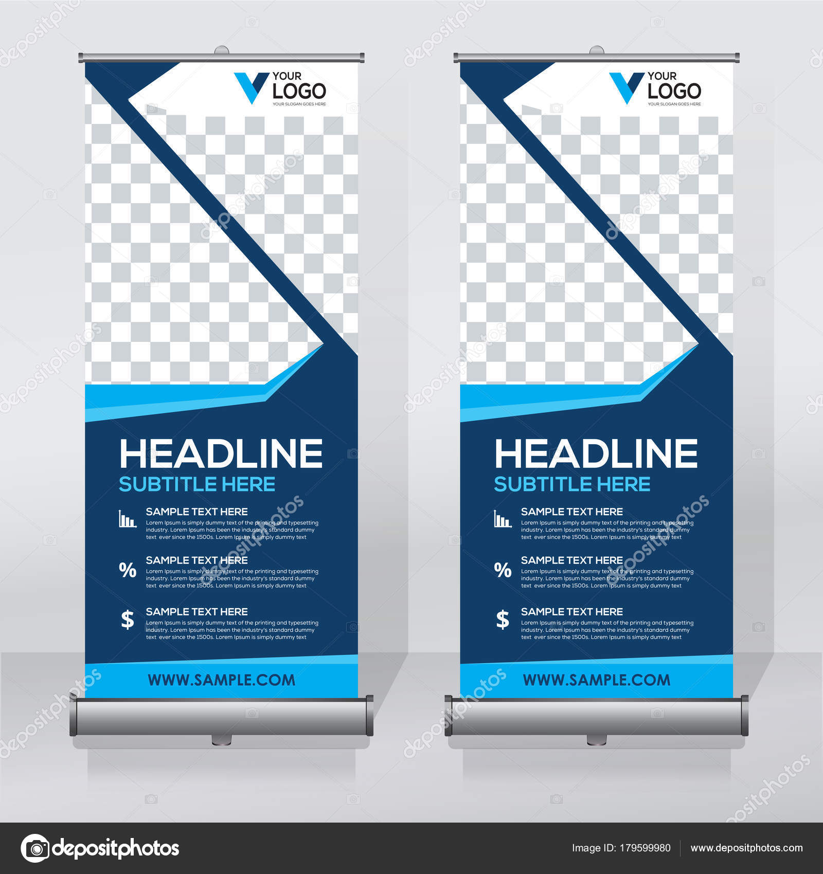 Roll Banner Design Template Abstract Background Pull Design Modern - Retractable banner template