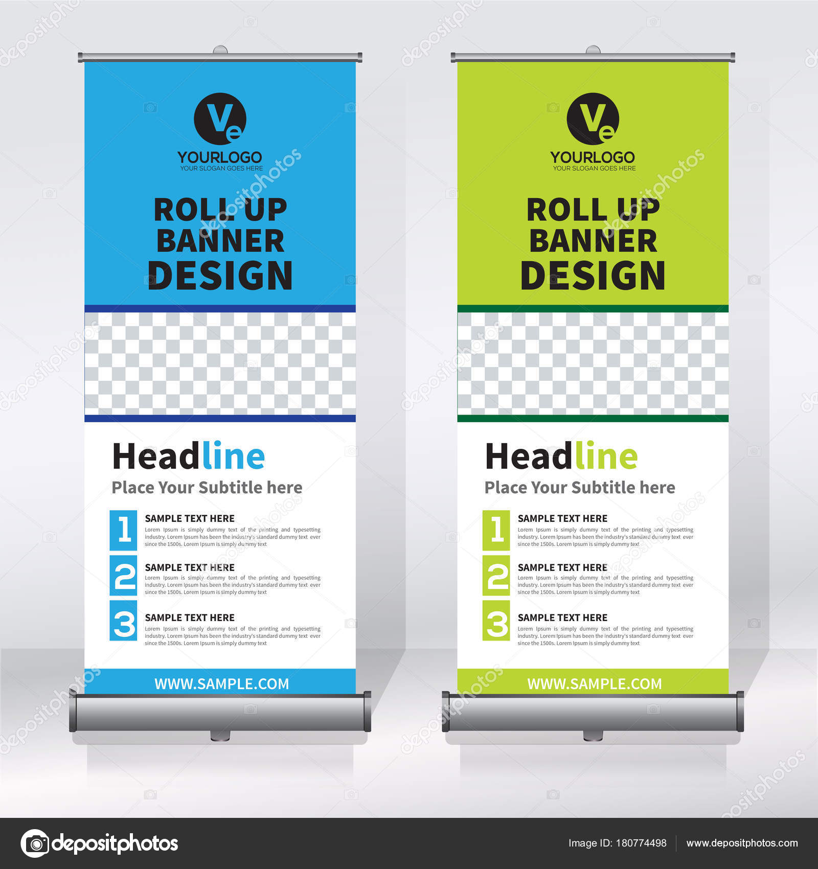 Roll Banner Design Template Vertical Abstract Background Pull Design ...