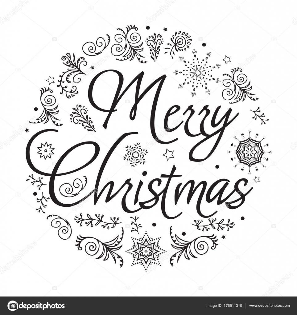 Immagini Natale In Bianco E Nero.Fotografie Buon Natale Stilizzato Bianco E Nero Buon