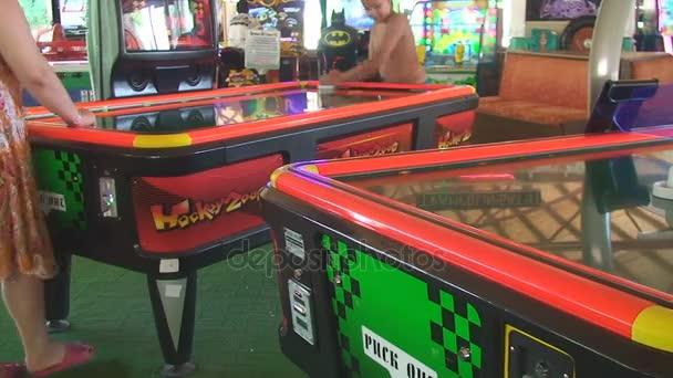 Turkey, Antalya, August 20, 2015, gaming hall people play