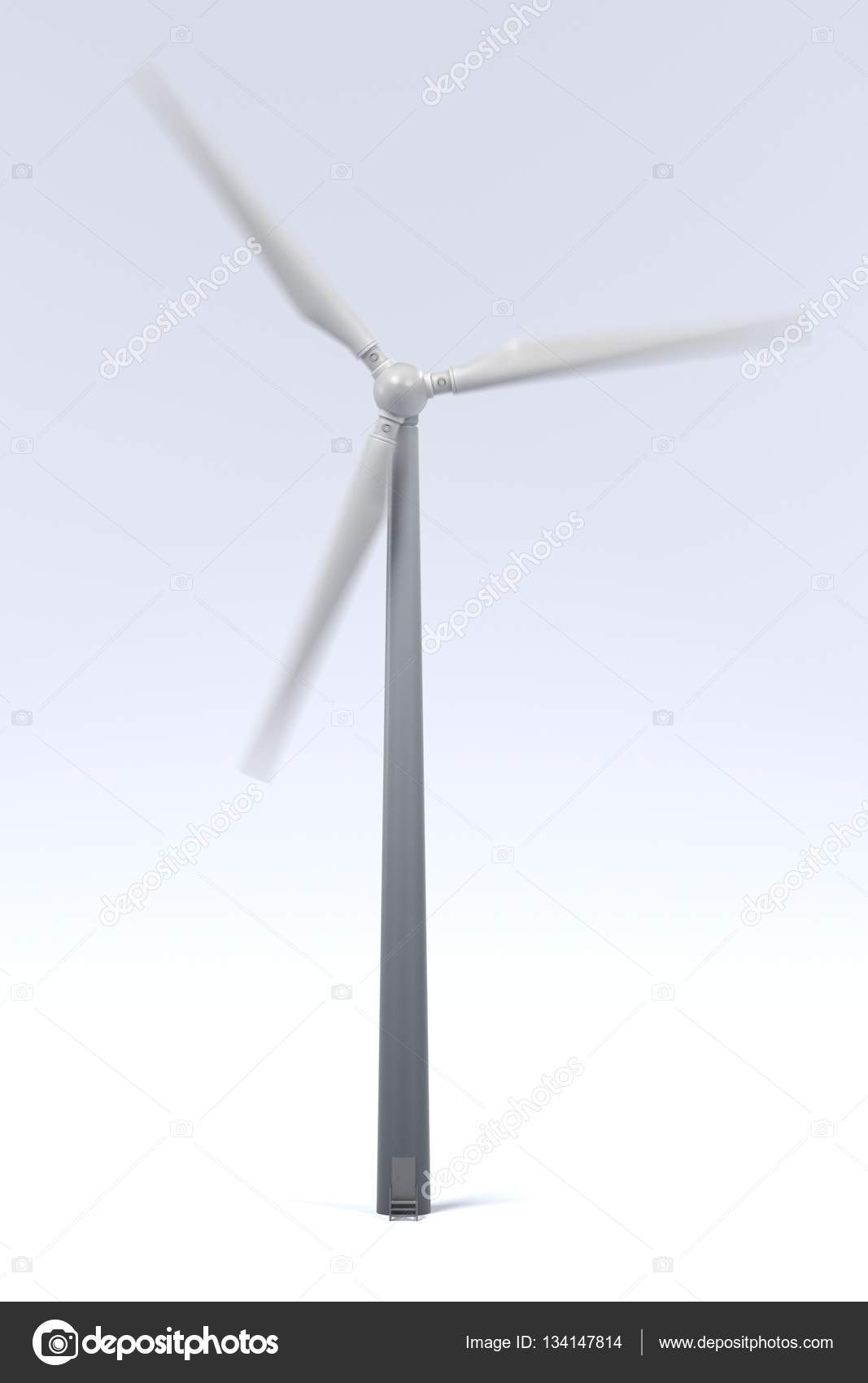 Realistic 3d render of wind turbine — Stock Photo
