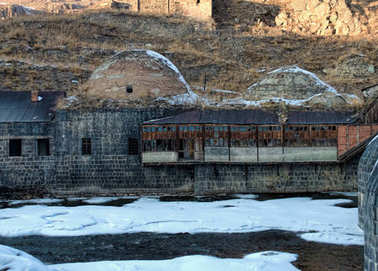 Remains of an old Ottoman public bath in Kars
