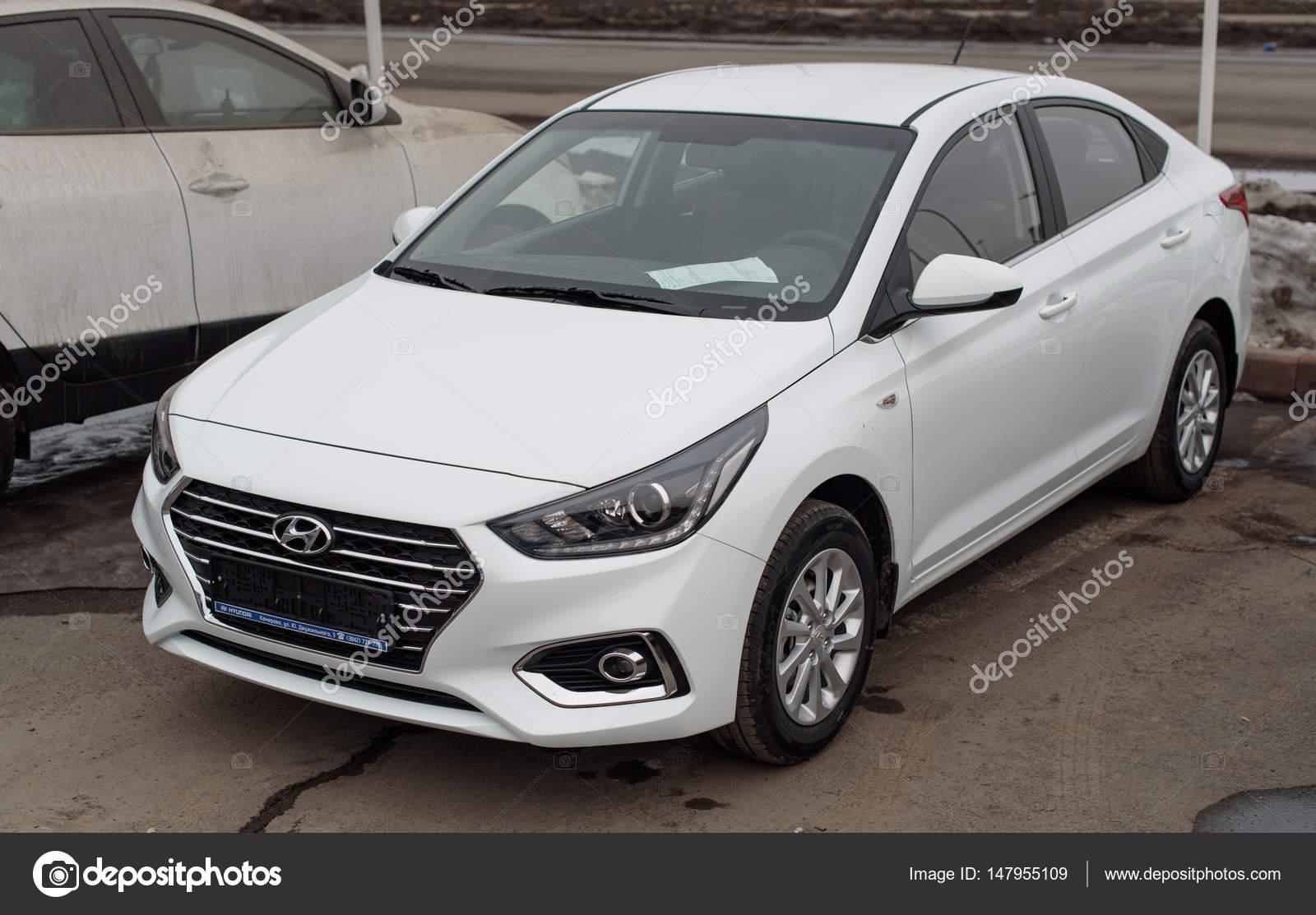 Novokuznetsk Russia Mart 25 2017 Hyundai Accent Solaris