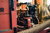 část starých hasičský vůz