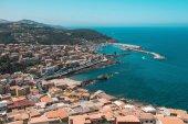 Fotografia Italiano antico città nella baia