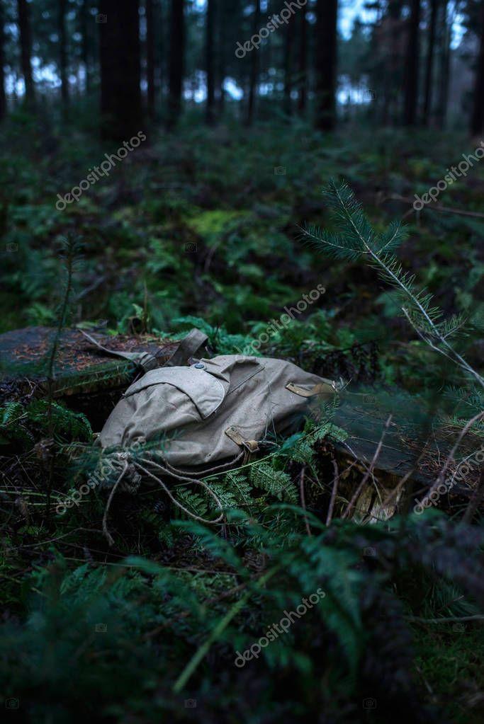 Lost vintage green backpack