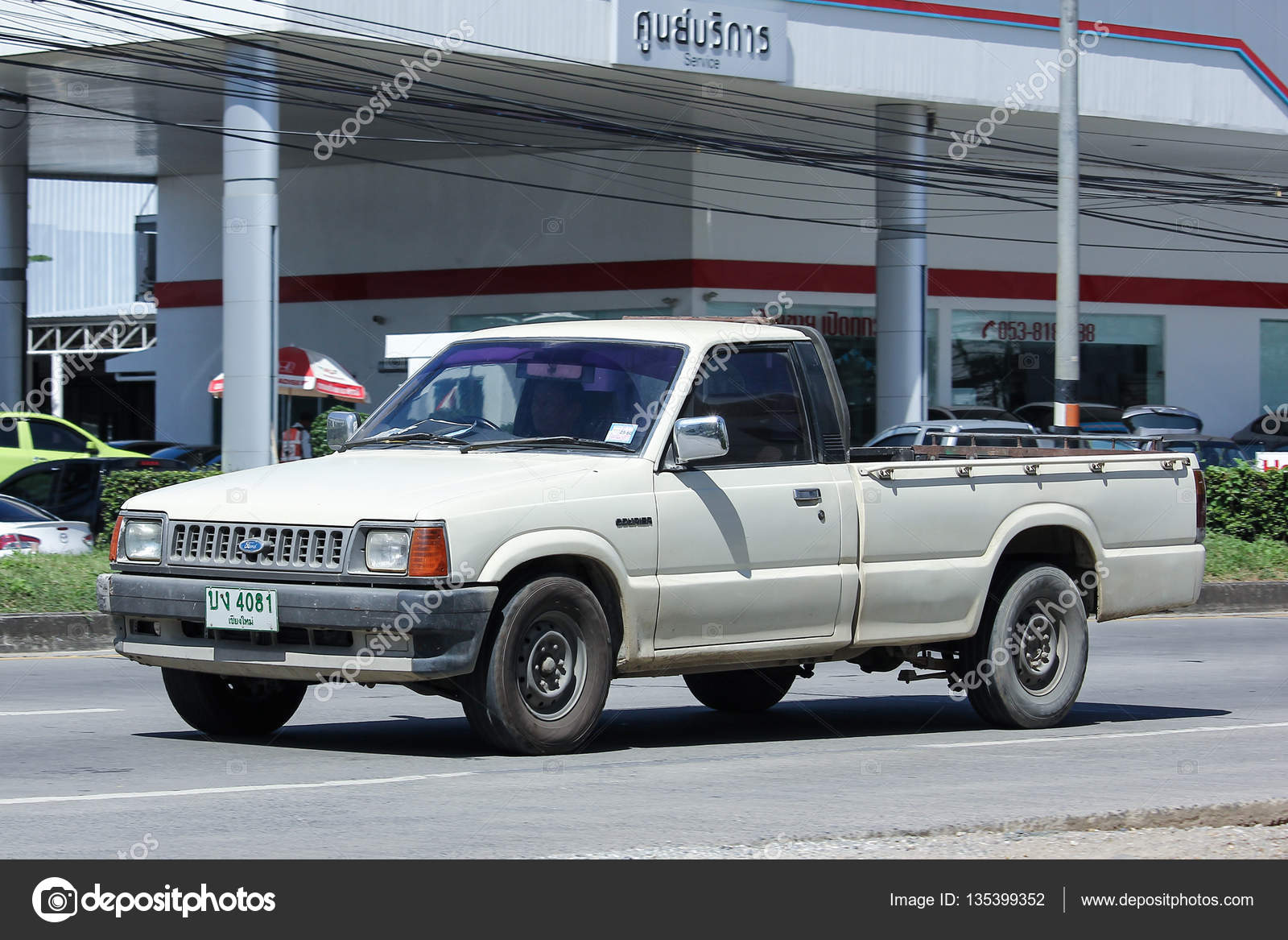 Private Pick up Truck, Old Mazda. – Stock Editorial Photo ...