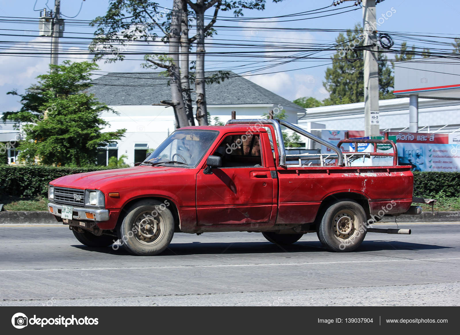 Private old Pickup car, Toyota Hilux. – Stock Editorial Photo ...