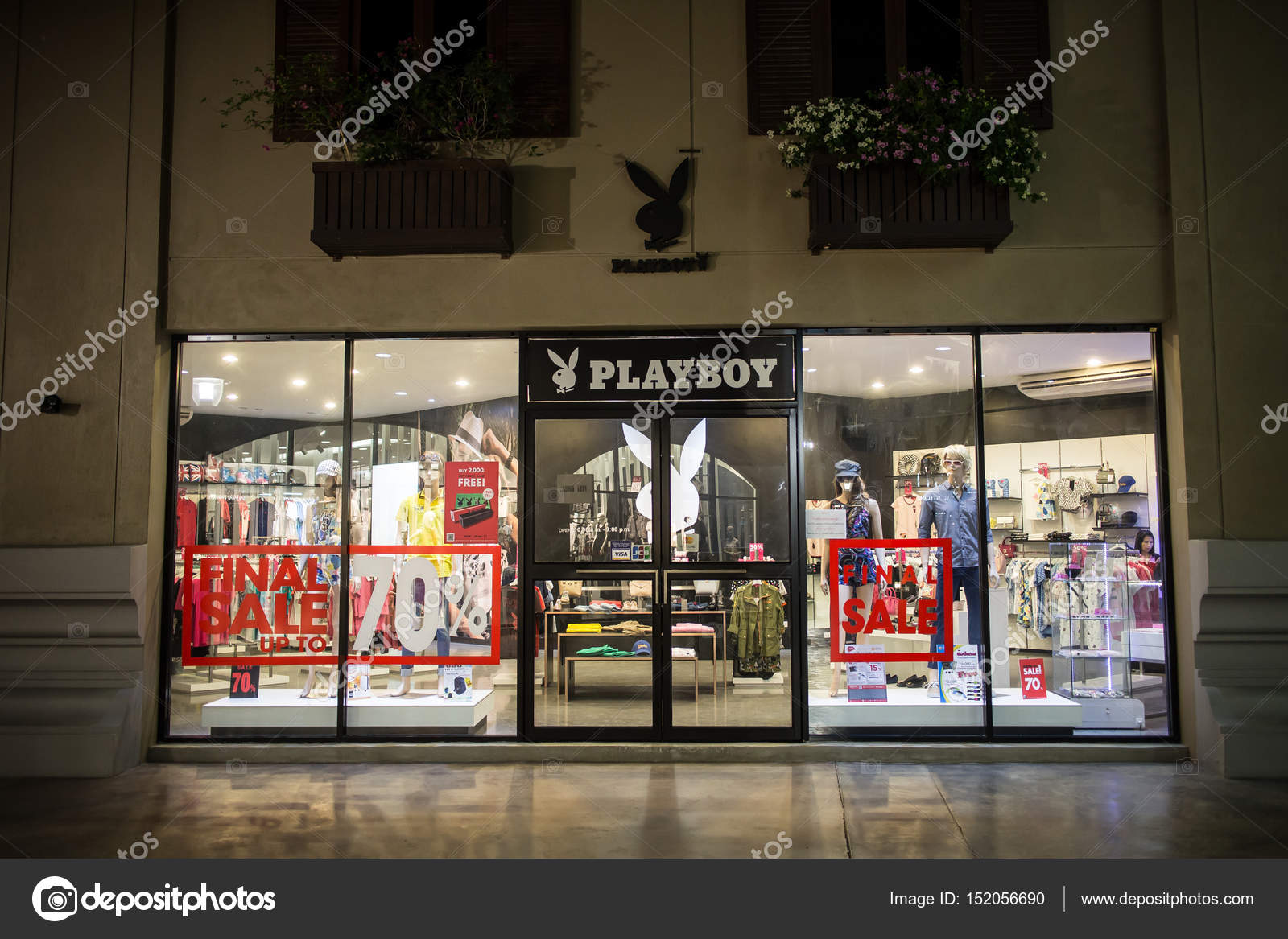 Playboy shop in Premium Outlet Chiangmai. - Stock
