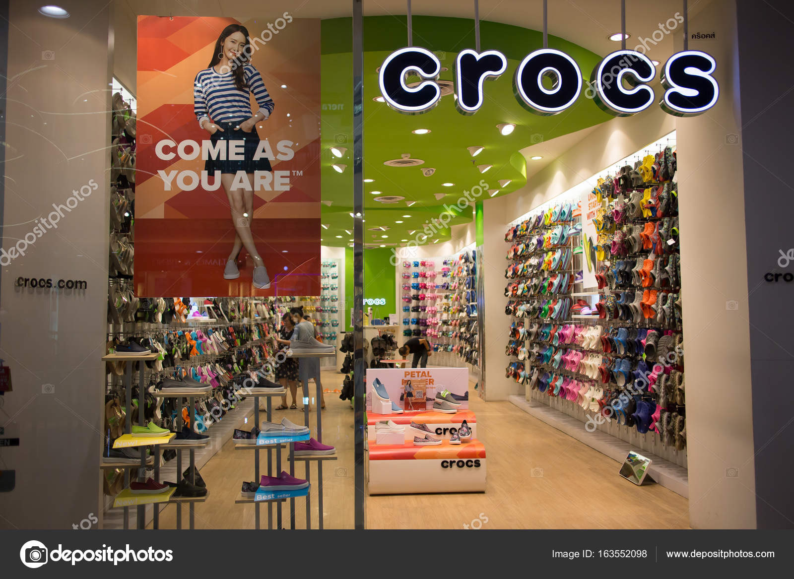 157a97f04d1f4b Crocs shop In Central Festival Chiang mai. – Stock Editorial Photo ...
