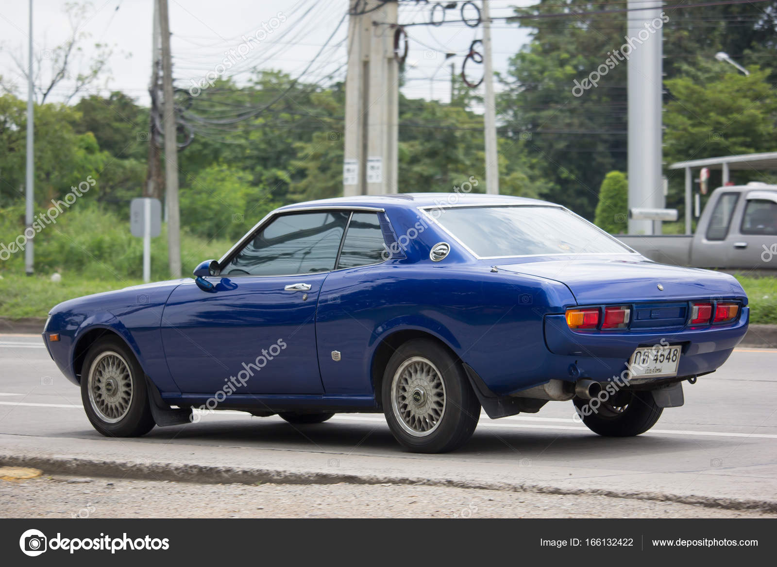 CHIANG MAI, THAILAND   AUGUST 29 2017: Private Old Car,Toyota Celica TA 22  Coupe LT 1600. Photo At Road No 121 About 8 Km From Downtown Chiangmai,  Thailand.