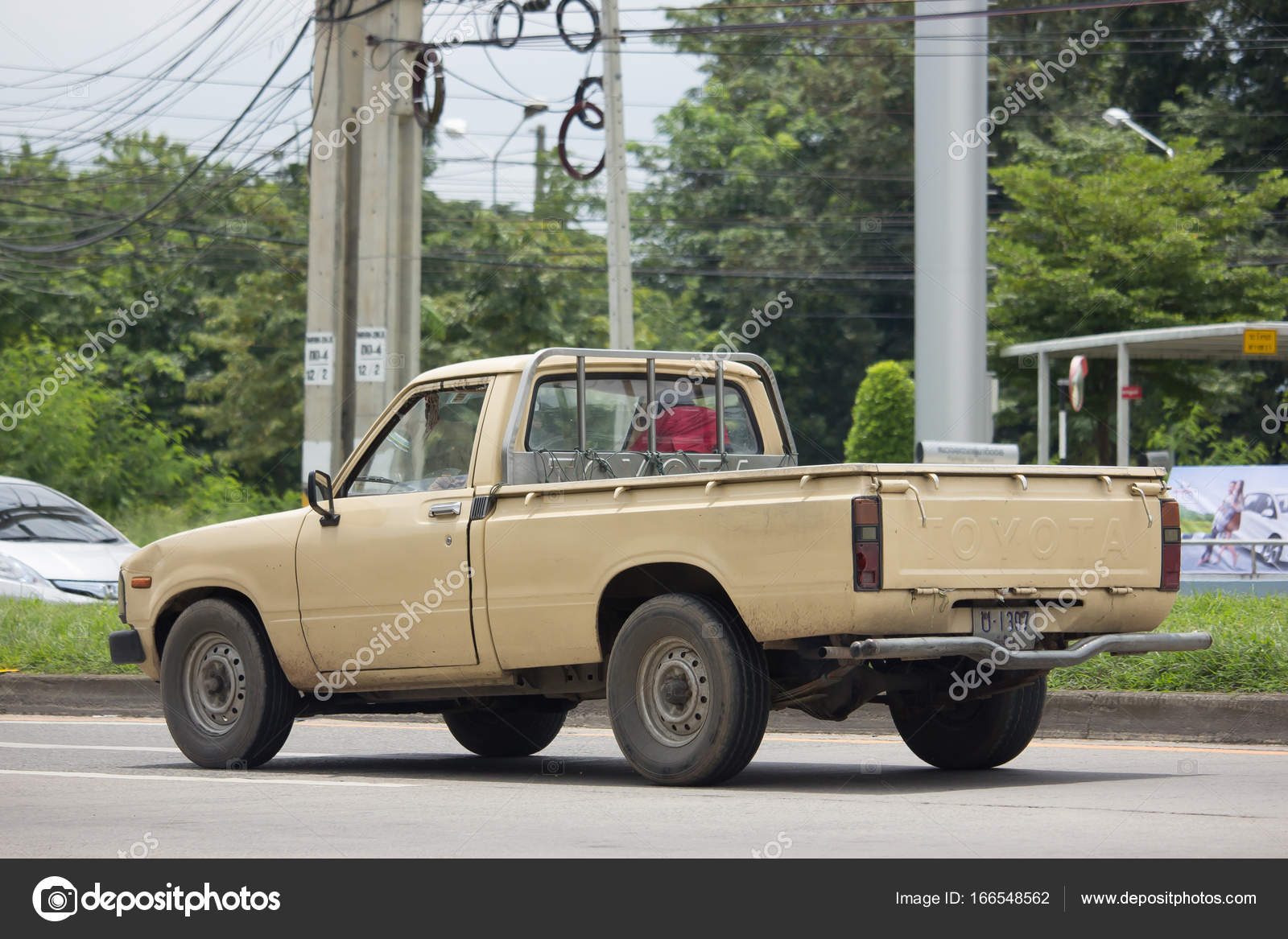 Private old Pickup car, Toyota Hilux Mighty X – Stock Editorial ...