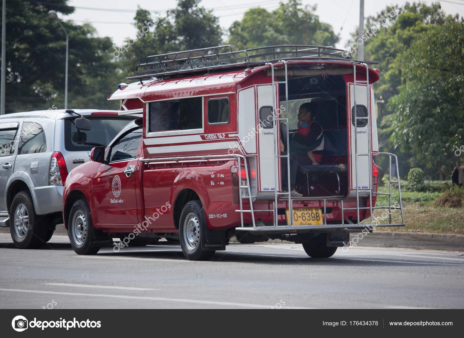 Toyota Mini Truck >> Toyota Orange Mini Truck Taxi Chiangmai Stock Editorial