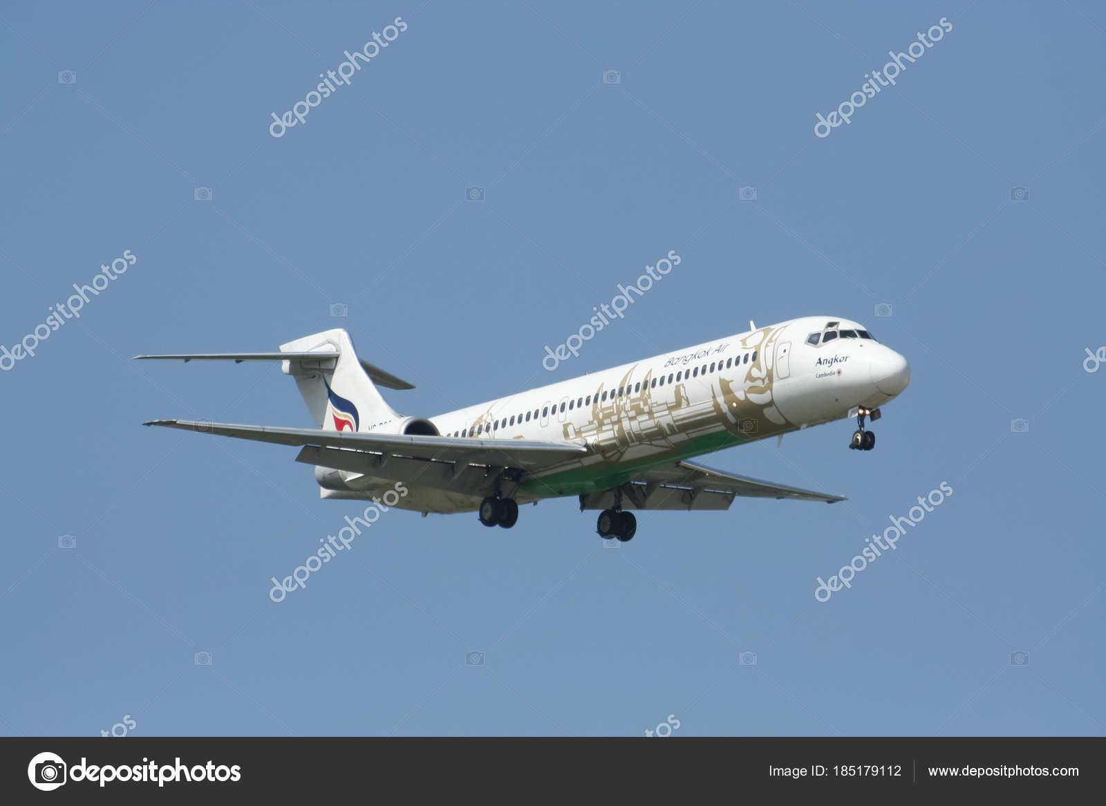 hs pgo boeing 717 200 da companhia aérea bangkokairway pousando para