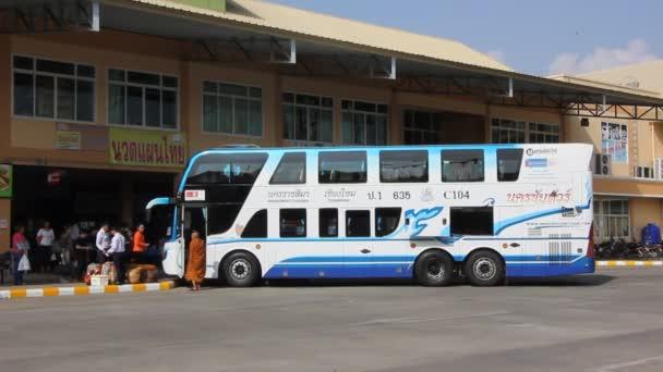 CHIANGMAI, THAILAND - FEBRUARY 28 2015: Nakhonchai tour company bus. Route Nakhon ratchasima and Chiangmai. Footage at Chiangmai bus station, thailand.