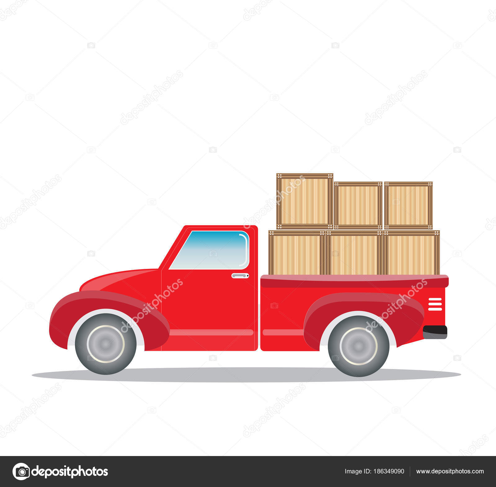 Old Pick up Truck with cargo box — Stock Vector © nitinut380 #186349090