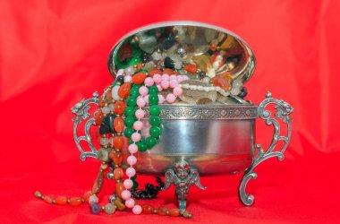 jewelry box with beads jewelry