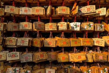 Messages on a small wooden plaques