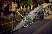 Fotografie Fahrrad in der Hafenstadt Hamburg