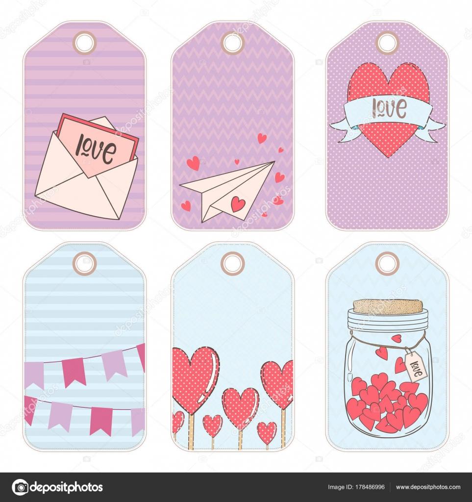 Vektor-Design-Elemente für ein Geschenk zum Valentinstag ...
