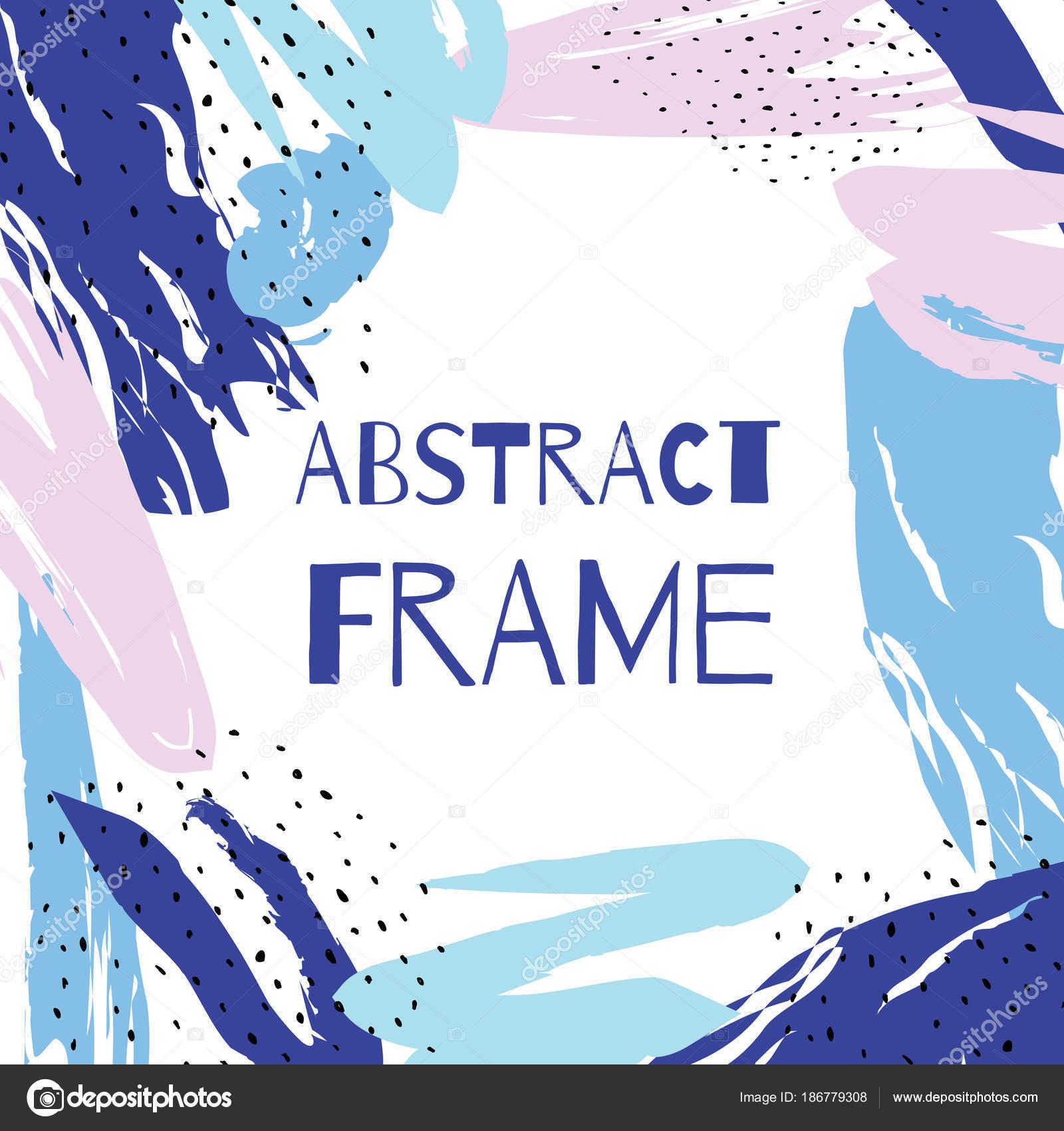 Vektor Hand ziehen abstrakten Hintergrund Rahmen — Stockvektor ...