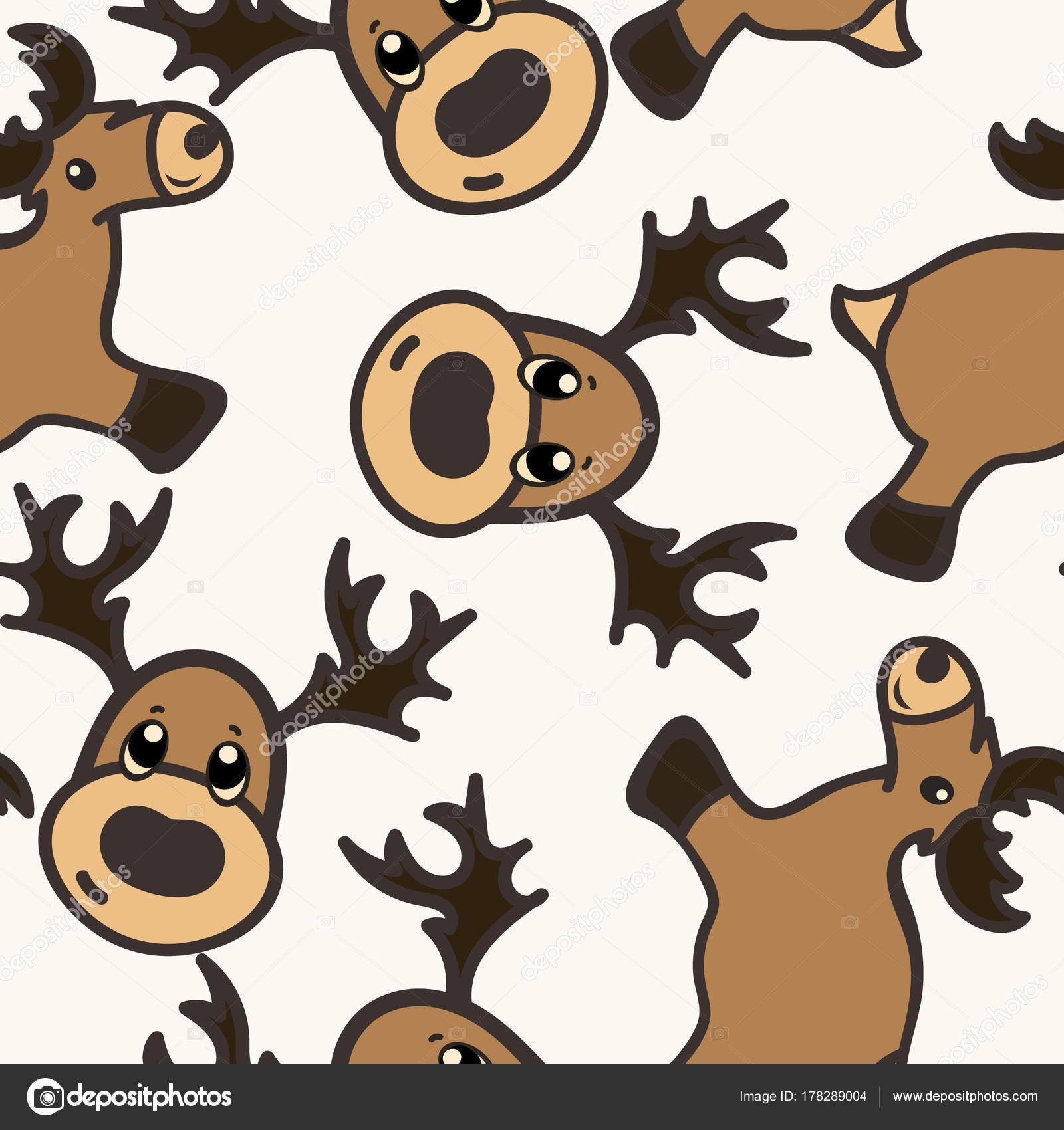 Patrón Vectores Navidad Con Ciervos Renos Juguete Aislados Sobre ...