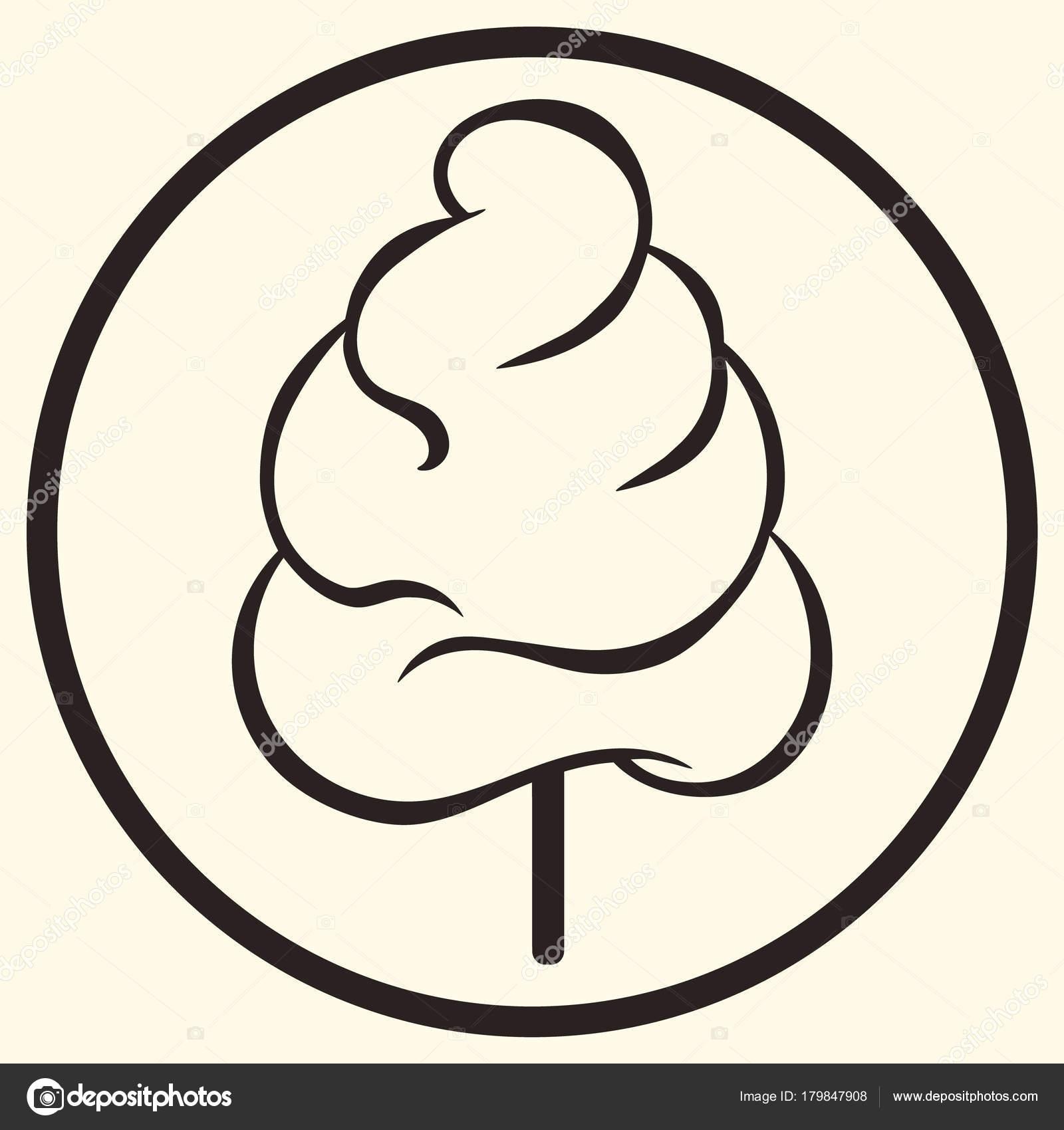 Zeichen Der Zuckerwatte Vektorbild Isoliert Zuckerwatte Logo Vorlage ...