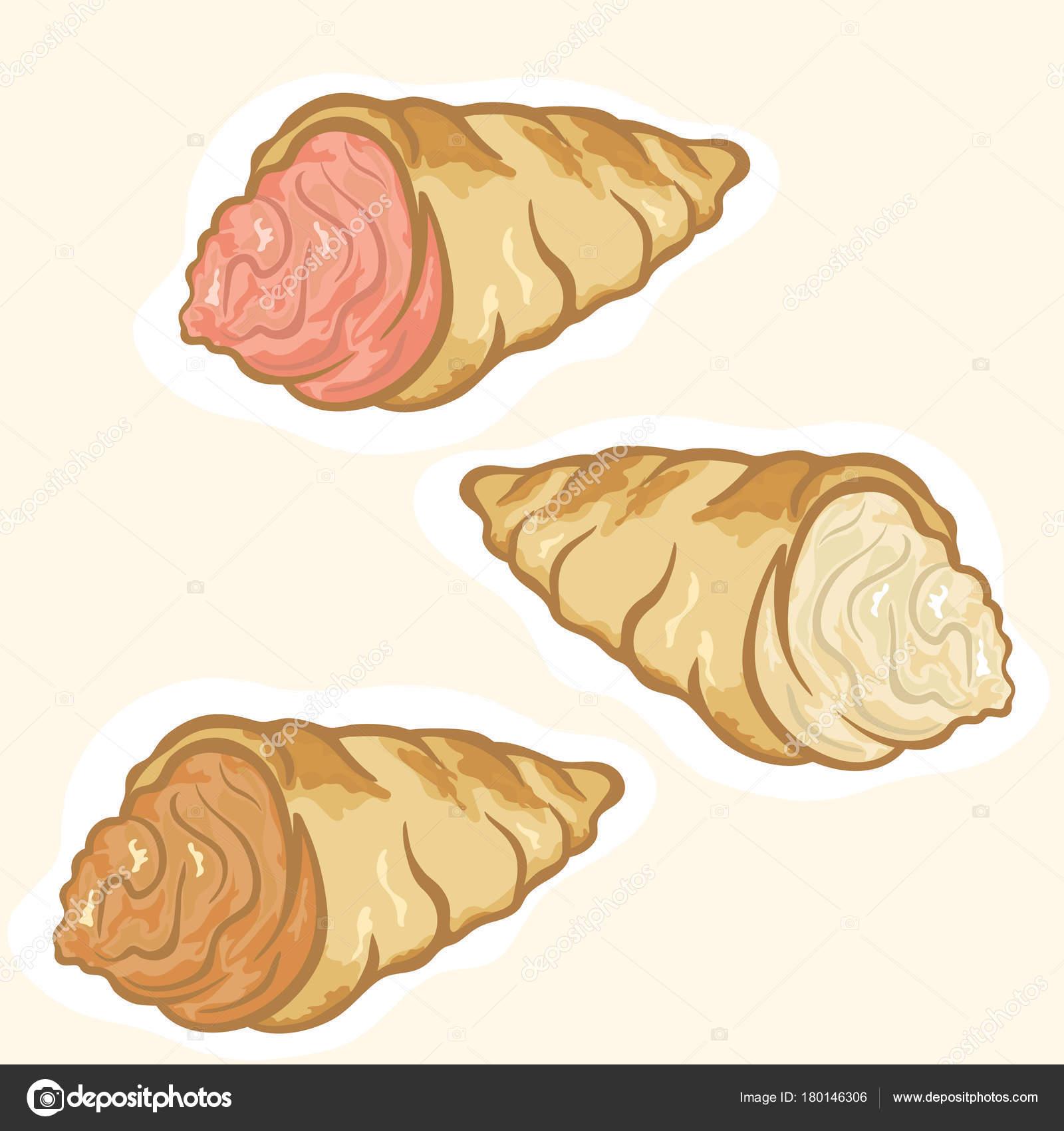 Bunte Kuchen Dessert Vektorbild Isoliert Auf Weiss Dessert Symbol