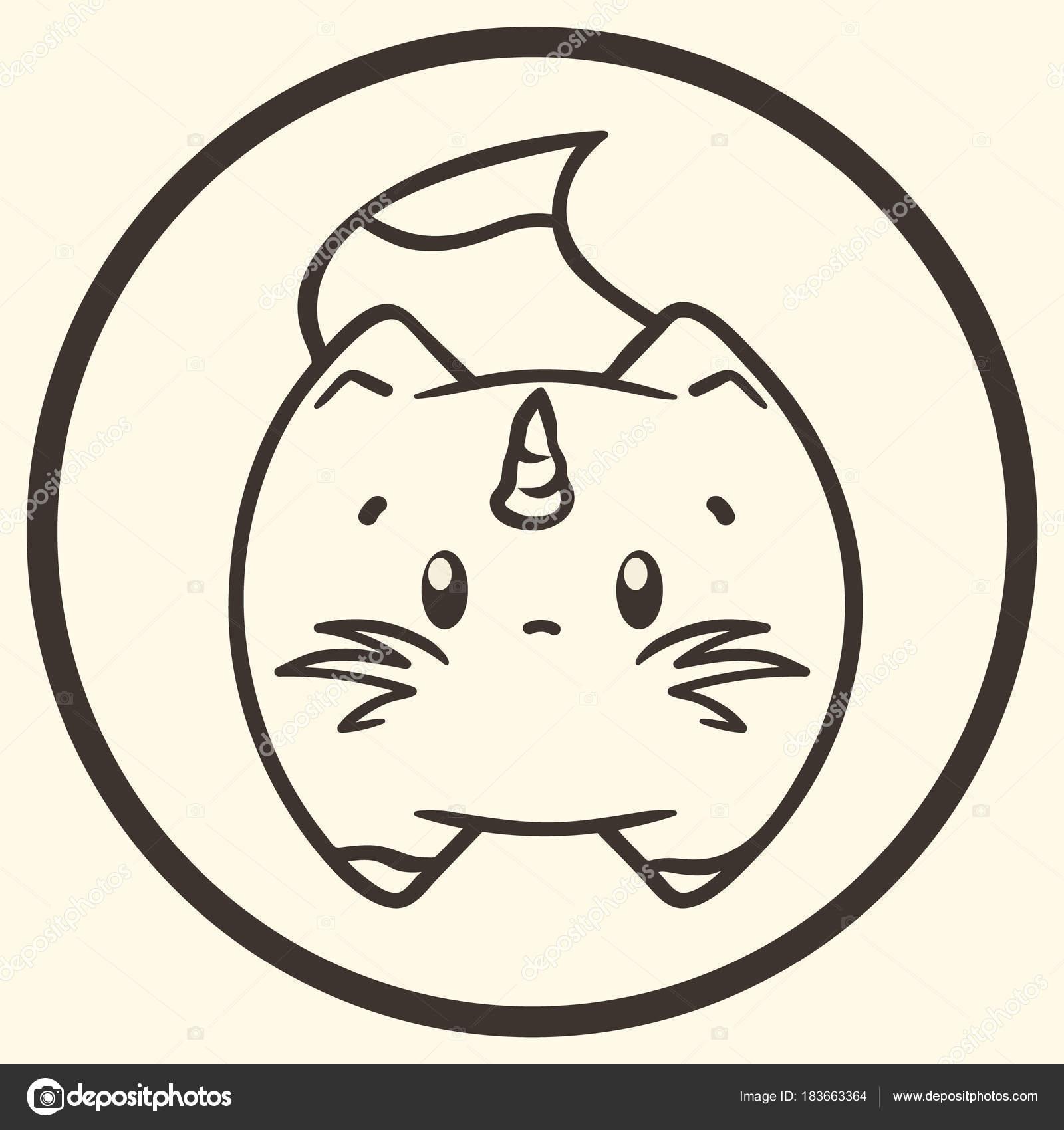 Набор фэнтези иконы плоский стиль символов с химеры, циклоп, фея и.