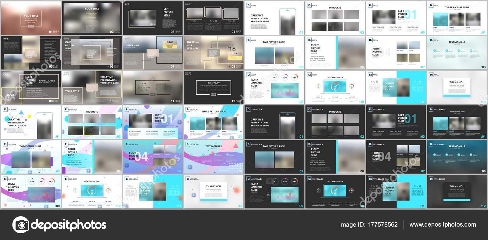 Big bundle of clean and minimal presentation templates. Brochure ...