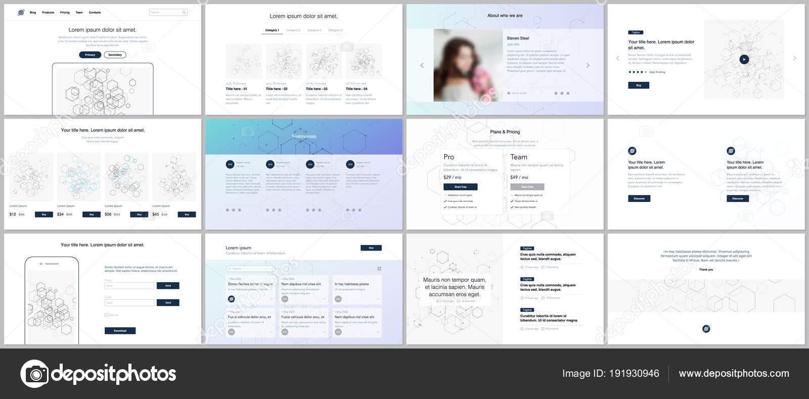 vector templates for website design minimal presentations