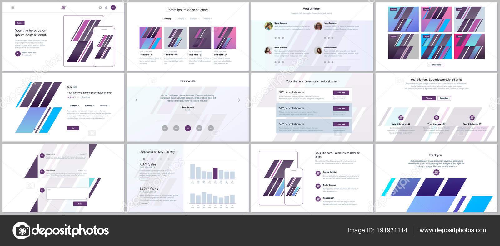 ウェブサイトのデザイン 最小プレゼンテーション ポートフォリオ