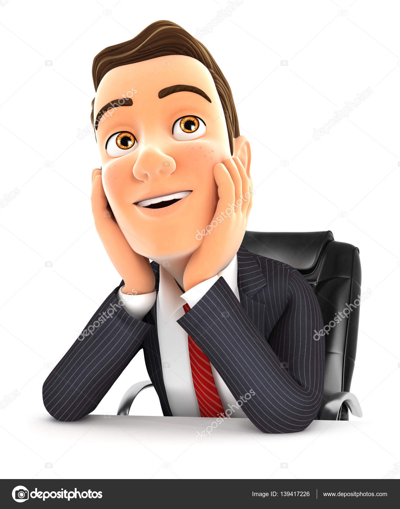 3d Businessman At Office Daydreaming Stock Photo C 3dmask