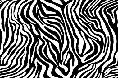 Zebra ornament. Seamless pattern