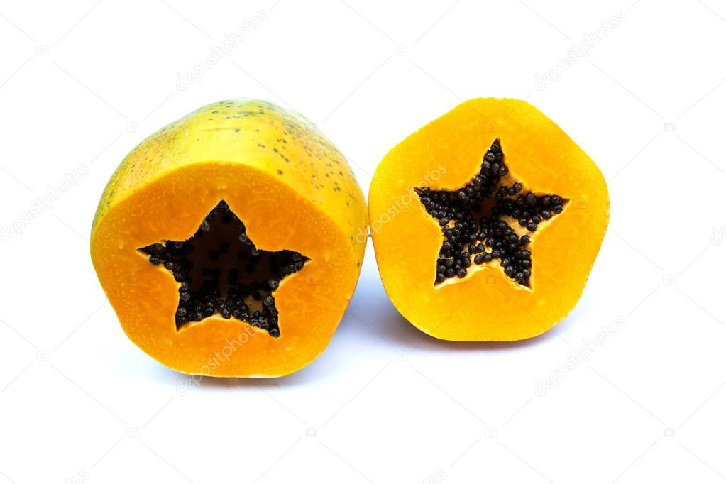 papaya, papaw, or pawpaw is the plant Carica papaya
