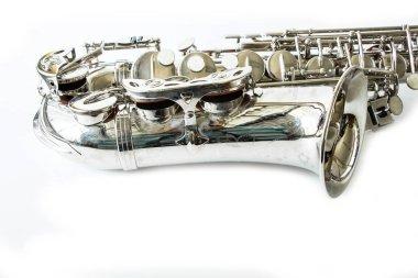 Part of Saxophone on white