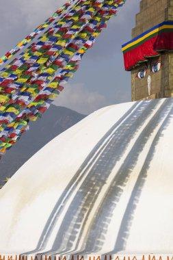 Boudhanath stupa in Kathmandu, Nepal. The Buddhist stupa of Boud