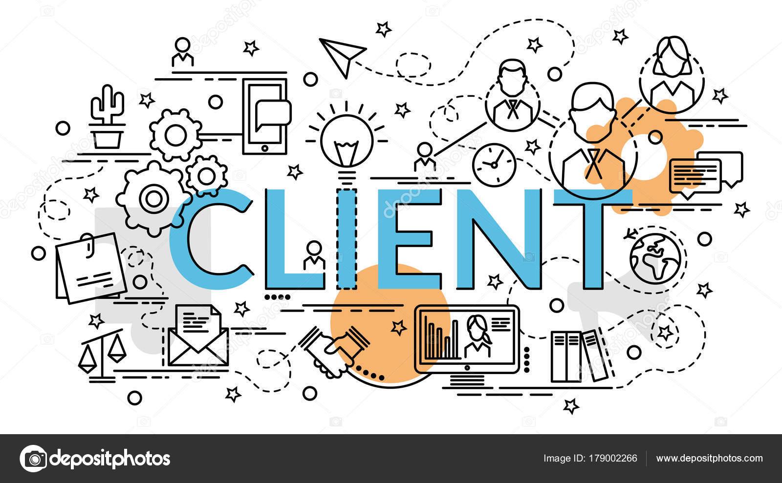 Concepto Diseño Colorido Plano Cliente Idea Productos Creativos ...