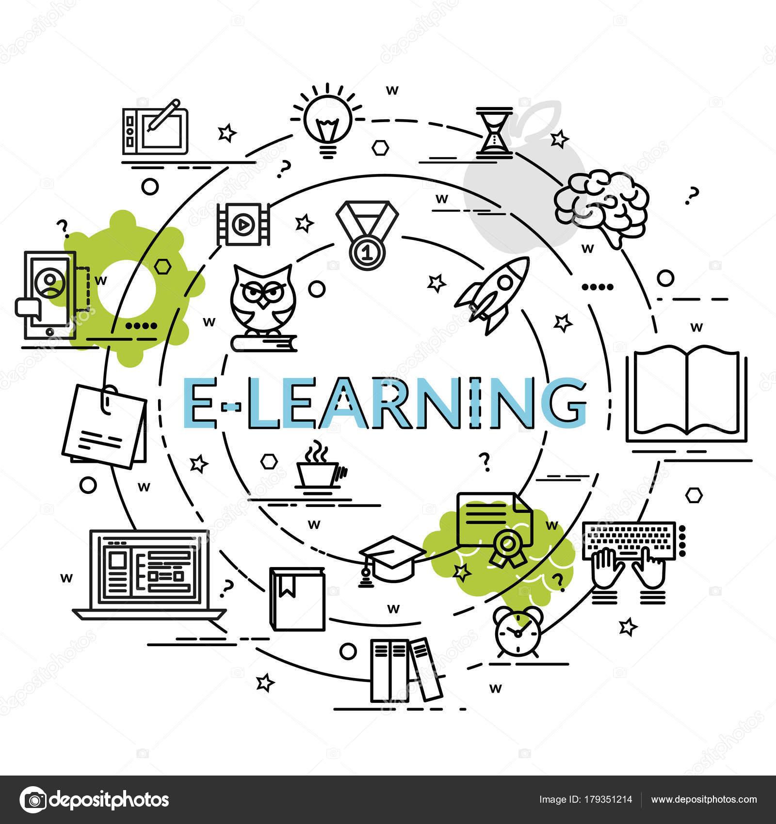 Concepto Diseño Colorido Plano Learning Idea Productos Creativos ...