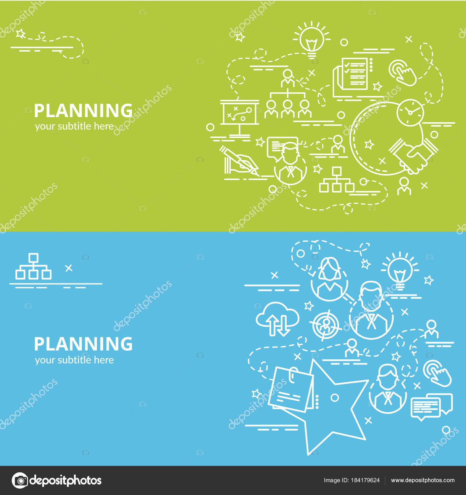 Concepto Diseño Plano Colorido Para Planificación Idea Productos ...