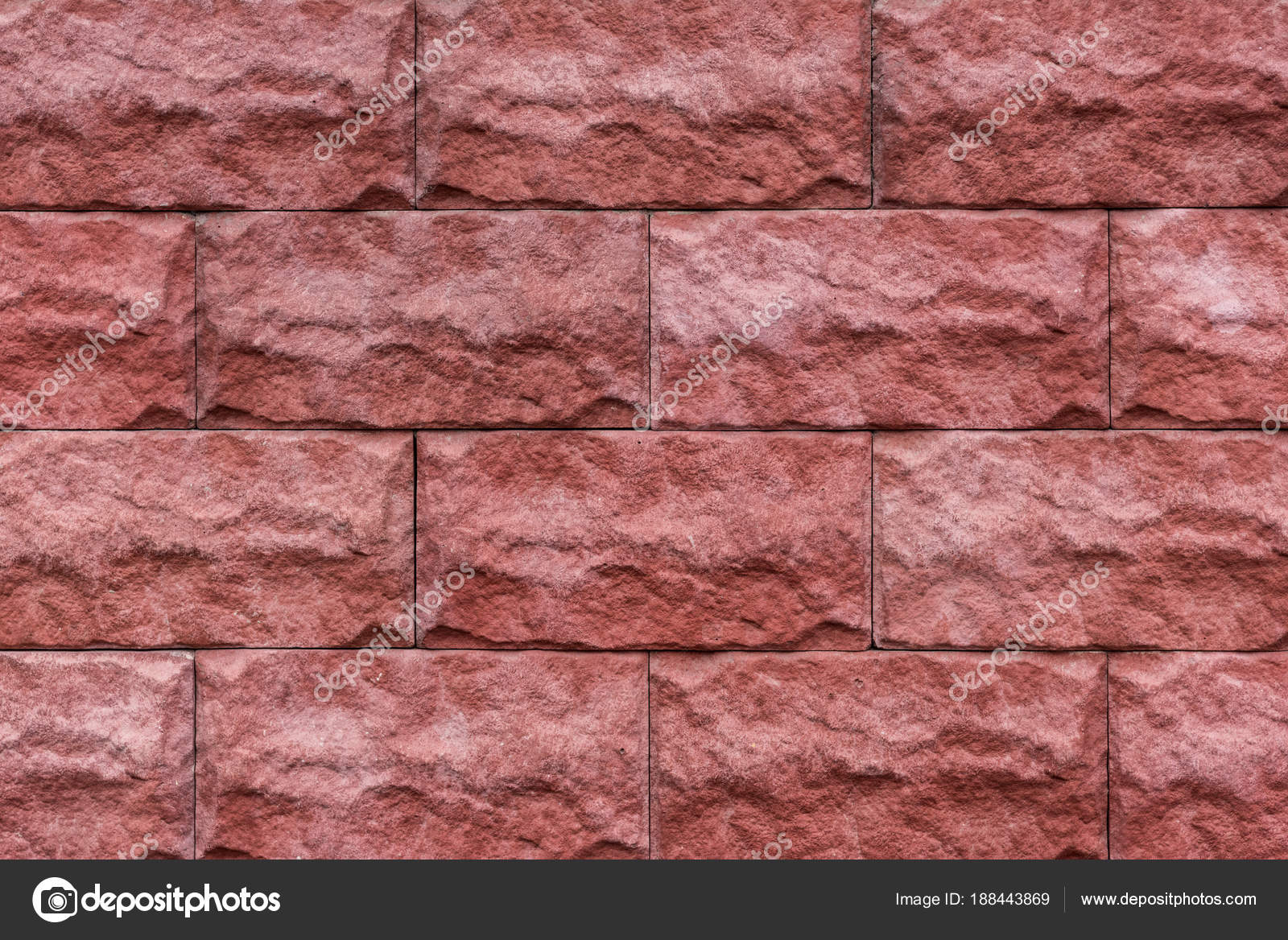 Red Stone Bricks Texture Background — Stock Photo